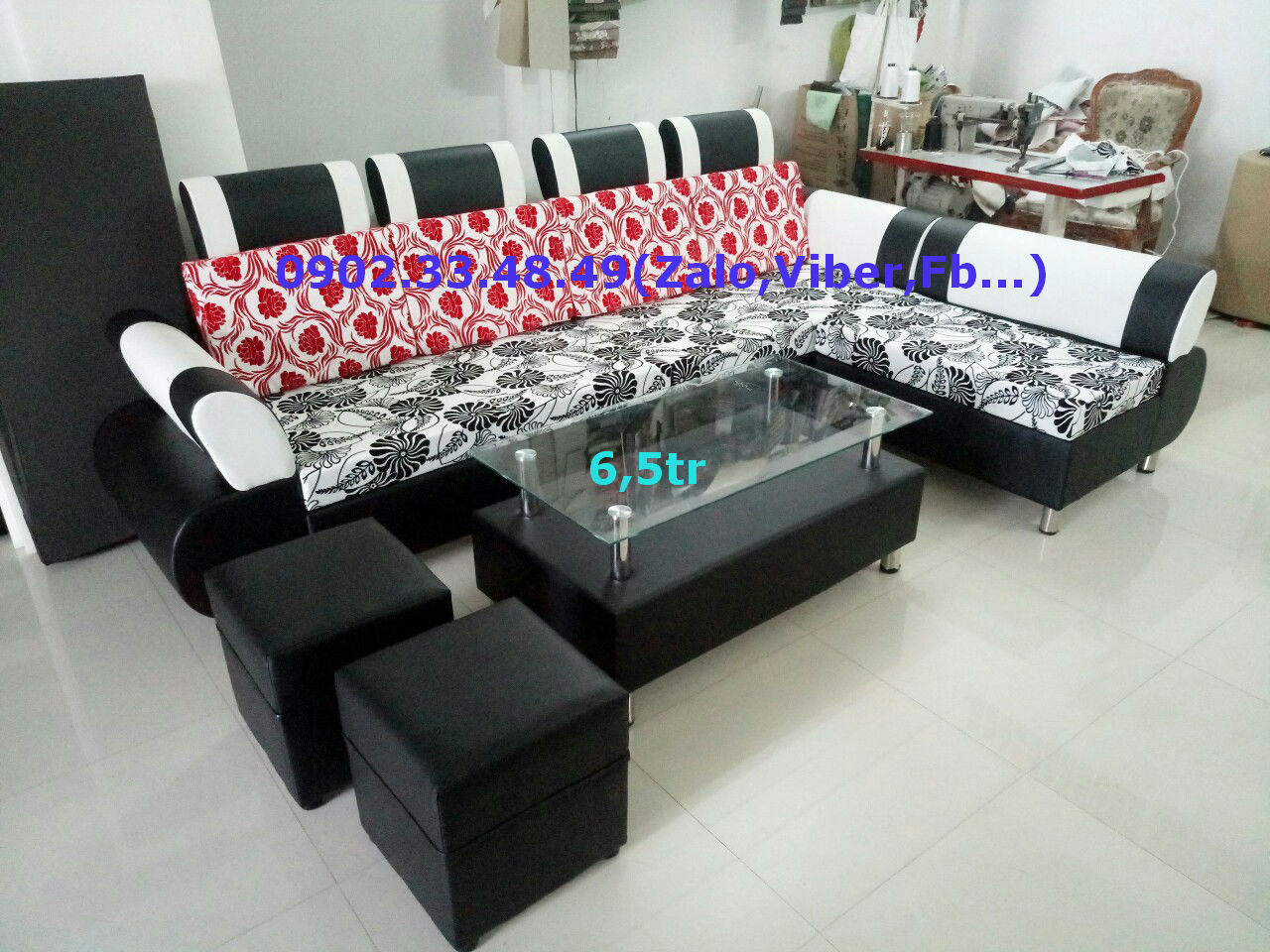 sofa simily pha vải